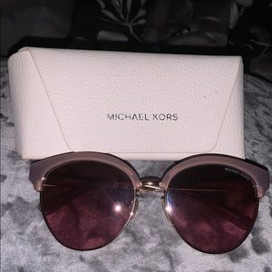 Michael Kors Gold rose Sunglasses